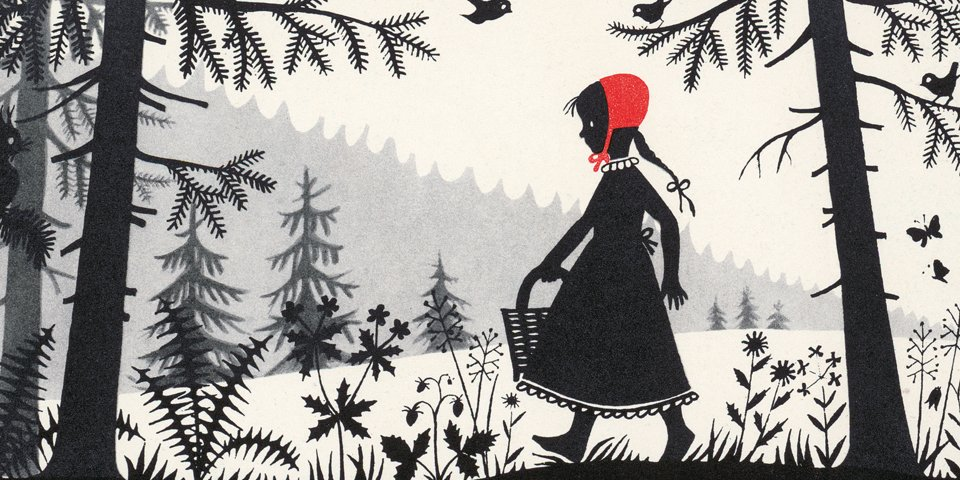 """© """"Little Red Riding Hood"""" illustration by Divica Landrová"""